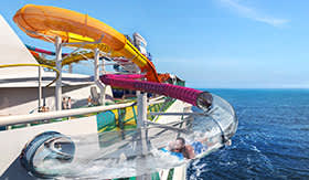 The Blaster Waterslide aboard Royal Caribbean's Navigator of the Seas