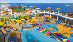 Royal Caribbean's Splash Pad aboard Navigator of the Seas