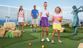 Royal Caribbean International onboard activities Mini Golf