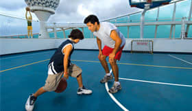 Royal Caribbean International onboard activities Sports Court and Tournaments