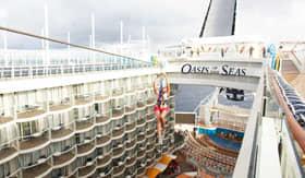 Royal Caribbean International onboard activities Zip Line