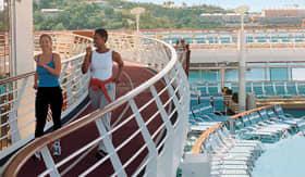 Royal Caribbean International spa & fitness jogging Track