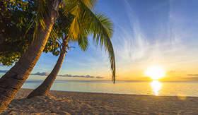 Royal Caribbean sunset on tropical Fiji Island