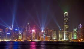 Royal Caribbean symphony of lights show in Hong Kong China