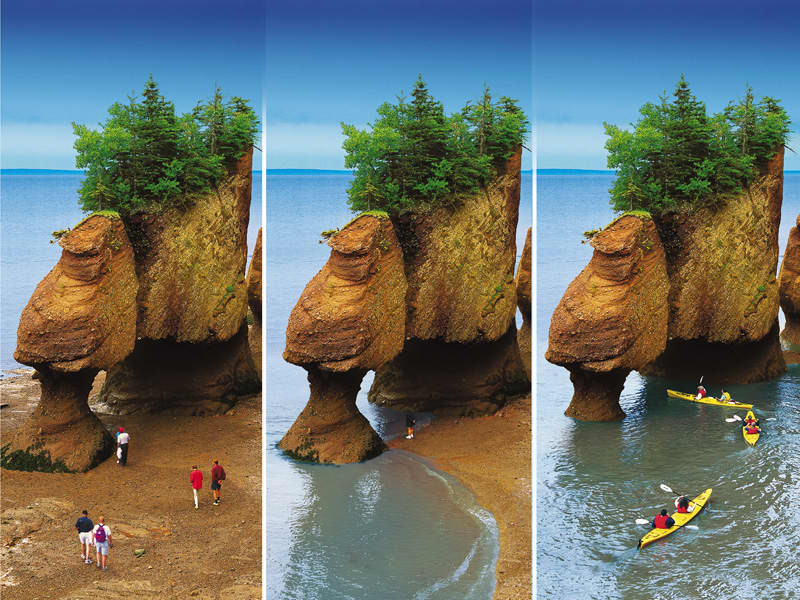 Hopewell Rocks in Saint John