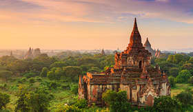 Seabourn ancient temples in Bagan Myanmar