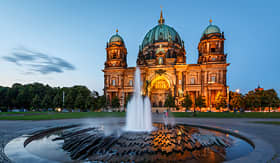 Seabourn Berlin Cathedral Berliner Dom and fountain Germany