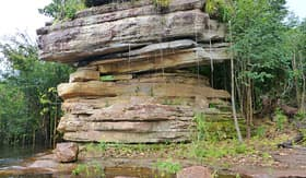 Seabourn caves in the national park Anavilhanas Amazonas Brazil