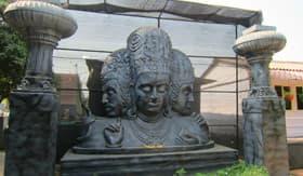 Shiva statue in Elephanta Caves