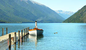 Seabourn Lake Rotoiti in South Island, New Zealand