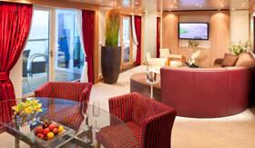 Seabourn Cruise Line staterooms Wintergarden Suite