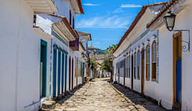 Silversea Cruises antique architecture and street in the city of Paraty Rio de Janeiro Brazil