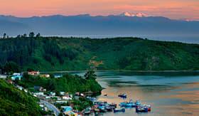 Silversea Cruises beautiful sunset south of Chile