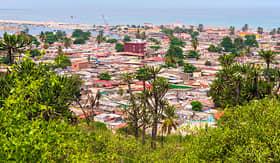 Silversea Cruises buildings standing close in Luanda Angola
