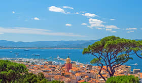 Silversea cruises coastal view of St Tropez France