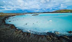 Silversea Cruises famous blue lagoon geothermal bath near Reykjavik Iceland