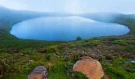 Silversea Cruises laguna El Junco island San Cristobal Galapagos islands Ecuador