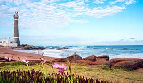 Silversea Cruises lighthouse in Jose Ignacio near Punta del Este atlantic coast Uruguay