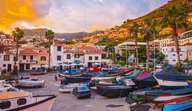 Silversea Cruises sunset in Camara de Lobos Madeira Island Portugal