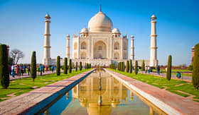 Silversea Cruises Taj Mahal on a bright and clear day