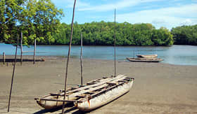 Silversea Cruises timber canoe in Papua New Guinea