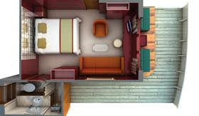Silversea Cruises staterooms Terrace Suite