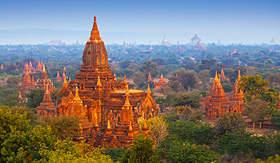 Bagan Archaeological Zone in Myanmar (Burma)
