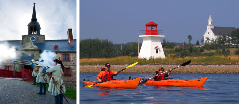 Colonial history and kayaking in Sydney, Nova Scotia