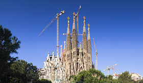La Sagrada Familia Church in Barcelona, Spain