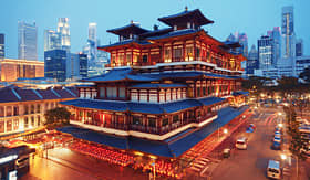 Transpacific Cruises Buddha Toothe Relic Temple in Chinatown, Singapore