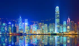 Transpacific Cruises Hong Kong Island from Kowloon