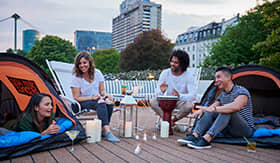 U by Uniworld River Cruises Rooftop Camping