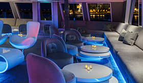 U by Uniworld River Cruises U Lounge area