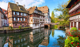 Uniworld River Cruises half-timbered houses in Strasbourg, France