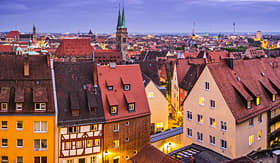 Uniworld River Cruises skyline of Nuremberg, Germany