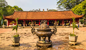 Uniworld River Cruises the Temple of Literature in Hanoi, Vietnam