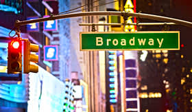 US Atlantic Coast Broadway in New York City