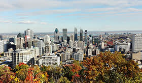 Cityscape of Montreal, Quebec