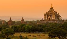 Viking River Cruises Sunset in Bagan, Myanmar