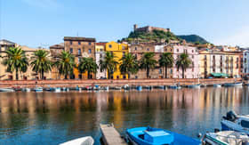 Windstar Cruises boats on the River Bosa Sardinia