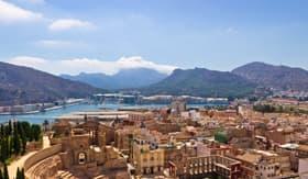 Windstar Cruises Cartagena looking over the Roman Amphitheater Spain