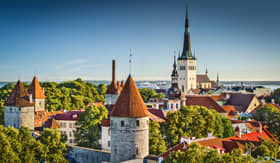 Windstar Cruises Tallinn Estonia old city view from Toompea Hill