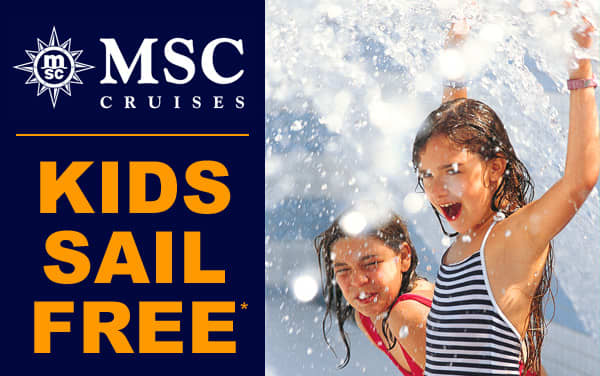 MSC Cruises: Kids Sail FREE on select sailings*