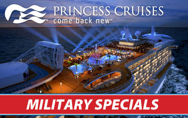 Princess: up to $250 Onboard Credit for Military