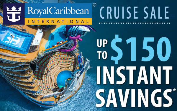 Royal Caribbean Sale: up to $150 OFF*