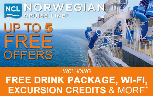 Norwegian Cruise Line: up to 5 Free Offers*