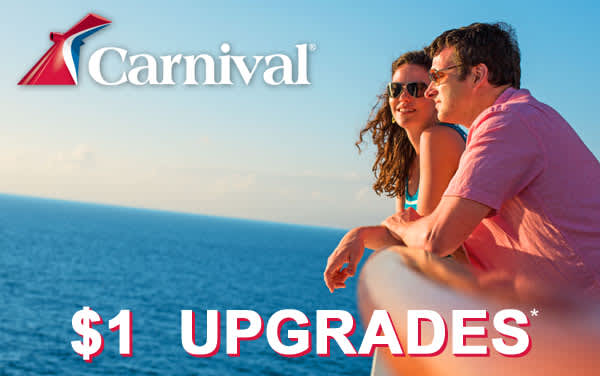 Carnival: $1 Stateroom Upgrades*