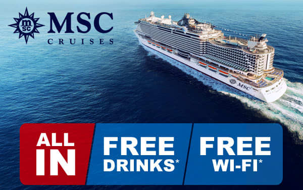 MSC Cruises ALL IN Sale: Free Drinks and Free WiFi