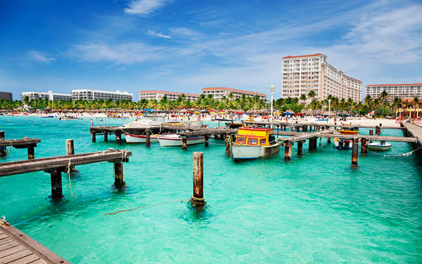 Port Of Oranjestad, Aruba, Caribbean