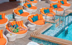 Crystal Cruises Serenity Pool Deck & Lounge Chairs